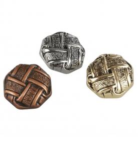 Nasturi Metalizati, cu 4 Gauri, din Plastic, marime 36 (100 bucati/pachet) Cod: S238 Nasturi Metalizati cu Picior S417/34 (100 buc/pachet)