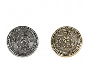 Nasturi Metalizati, cu Doua Gauri, din Plastic (100 bucati/pachet) Cod: 2620  Nasturi Metalizati cu Picior S778/36 (100 buc/pachet)
