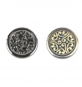 Nasture Plastic Metalizat JU895/40 (100 buc/punga) Shank Buttons S584, Size 44L (50 pcs/pack)