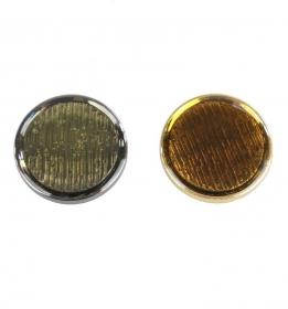 Nasturi cu Doua Gauri 11HB-H618, Marimea 34, Argintiu(100 buc/pachet) Nasturi Metalizati cu Picior  S630/40 (50 buc/pachet)