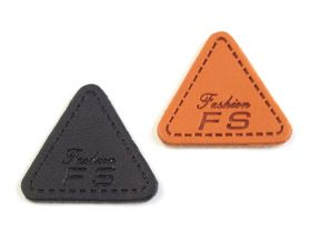 Etichete din Lemn si Imitatie Piele Eco Leather Clothing Label, 25 mm (100 pcs/pack) Code: 390600