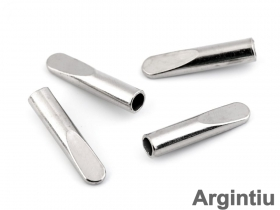 Opritori si Capete Snur Capat Snur Metalic Argintiu (25 bucati/pachet) Cod: 160067