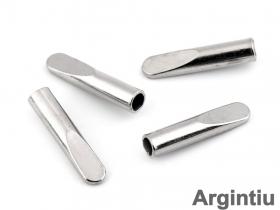 Opritori 0305-3129-BRASS (200 bucati/punga) Capat Snur Metalic Argintiu (25 bucati/pachet) Cod: 160067