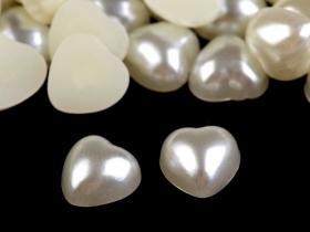 Margele din plastic Margele de Lipit, Inimioare Sidefate, 10x10 mm (50 bucati/pachet)