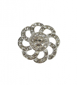 Nasturi cu Picior Metal Shank Buttons with Rhinestones, 25 mm (10 pcs/pack) Code: N19329