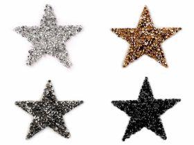 Embleme/Aplicatii Termoadezive (10 buc/pachet) Cod: 400078 Embleme Termoadezive cu Strasuri, Stea (10 bucati/pachet) Cod: 390447