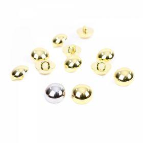 Nasture Plastic Metalizat JU049, Marime 24, Antic Brass (100 buc/punga)  Nasturi Metalizati, cu Picior, din Plastic, 11 mm (144 buc/pachet) Cod: 2614
