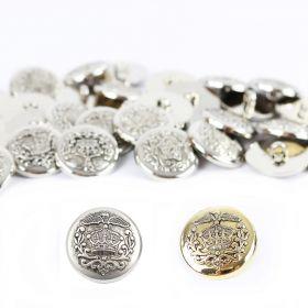 Nasture Plastic Metalizat JU049, Marime 34, Antic Brass (100 buc/punga)  Nasturi Metalizati, cu Picior, din Plastic (144 bucati/pachet) Cod: 2809