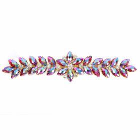 Aplicatii cu Cristale Aplicatii cu Strasuri din Sticla, 19.5x5.5cm (1 buc/pachet)Cod: BW-45