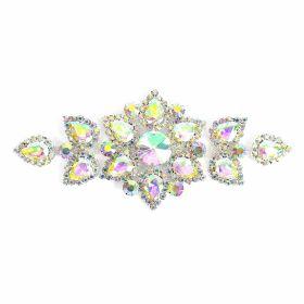 Aplicatii cu Cristale/Strasuri Aplicatii cu Strasuri din Sticla, 14.7x6.3 cm (1 buc/pachet)Cod: BW-51