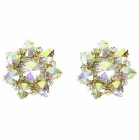 Aplicatii cu Cristale/Strasuri Aplicatii cu Strasuri din Sticla, 5.6cm (2 bucati/pachet) Cod: BW-58