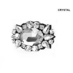 Aplicatii cu Cristale/Strasuri Aplicatii cu Strasuri din Sticla, 4.5x3 cm (6 bucati/pachet) Cod: MT0675