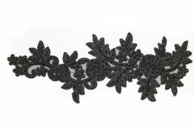 Aplicatii Vestimentare Aplicatii Textile cu Strasuri, lungime 36.5 cm (5 bucati/pachet)Cod: Z-780