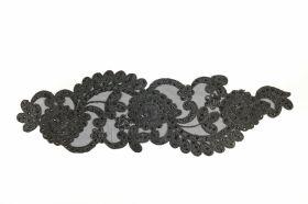 Aplicatii Vestimentare Aplicatii Textile cu Strasuri, lungime 38 cm (5 bucati/pachet)Cod: Z-783