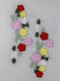 Flori din Dantela cu Cristale, diametru 9 cm (10 bucati/pachet)Cod: 180938 Aplicatie Textila, lungime 23 cm (6 per/pachet) Cod: WS114