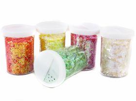 Sclipici Glitter Efect Holografic, Particule Mari, 100 gr (1 buc) Cod: B36