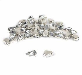 Strasuri de Cusut R11640, Marime: 10 mm, Culoare: 14 (100 buc/punga) Strasuri in Montura Metalica, marime 6x10 mm (200 buc/punga)Cod: R11782