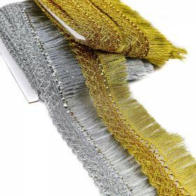 Franjuri Franjuri cu Fir Metalic, latime 5 cm (13.72 m/pachet) Cod: 6152-0199