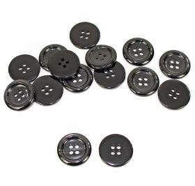 Nasturi cu Patru Gauri 0313-1300/48 (100 buc/punga) Culoare: Negru Nasturi Plastic cu Patru Gauri, marime 24L, Negri (500 bucati/punga) Cod: 0310-3006