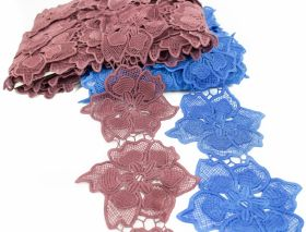 Dantela, latime 18 mm  (13,72 m/rola)Cod: 0575-1113 Border Lace Embroidered 3D, 11.5 cm (13.5 m/roll) Code: A012-0110