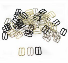 Inchizatori Sutien, 12 mm, Argintiu (100 bucati/pachet)  Reglor Sutien, gaura de trecere 12 mm, Metal (100 bucati/punga)Cod: MA12