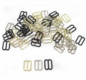 Inchizatori Sutien, 15 mm, Negru (100 perechi/pachet) Reglor Sutien, gaura de trecere 12 mm, Metal (100 bucati/punga)Cod: MA12