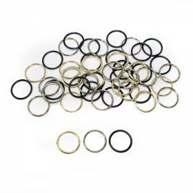 Reglor Sutien, 12 mm, Negru (100 bucati/pachet) Inele Sutien, Metal, diametru interior 14 mm, (100 bucati/punga)Cod: MH14