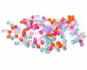Perle Sirag si Strasuri Margele Multicolore, diametru 5 mm (100 gr/punga)Cod: R15053