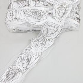 Pasmanterie 2504-06 Argintie (500 metri/rola)  Pasmanterie, latime 60 mm (13.6 metri/rola)Cod: WTP533