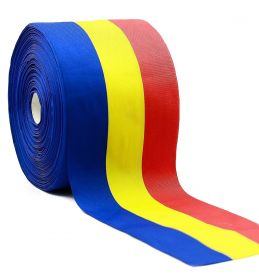 Banda Tricolor, latime 10 mm (50 metri/rola)  Banda Tricolor, latime 110 mm (50 metri/rola)
