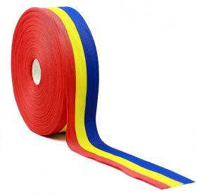Banda Tricolor, latime 10 mm (50 metri/rola)  Banda Tricolor, latime 40 mm (50 metri/rola)