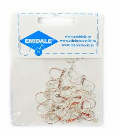 Inele Metalice, 36 mm (10 buc/pachet)  Silver-Plated Earring Hooks(10 pcs/pack)