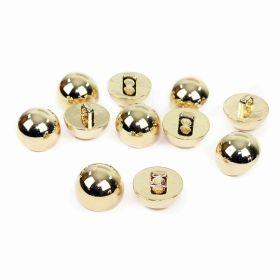 Nasture Plastic Metalizat JU049, Marime 34, Auriu (100 buc/punga)  Nasturi Metalizati, cu Picior, din Plastic (144 bucati/pachet) Cod: B3100
