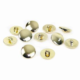 Nasture Plastic Metalizat JU049, Marime 34, Auriu (100 buc/punga)  Nasturi Metalizati, cu Picior, din Plastic (144 bucati/pachet) Cod: B3101