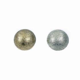 Nasturi Plastic Metalizati JU1318, Marime 40, Argintiu Mat (100 buc/pachet)  Nasturi Metalizati, cu Picior, din Plastic, marime 34 (144 bucati/pachet) Cod: B6320