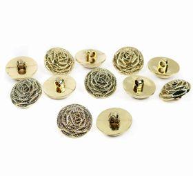 Nasturi W245, Marime 34, Aurii (100 buc/pachet)  Nasturi Metalizati, cu Picior, din Plastic, marime 24 (144 bucati/pachet) Cod: B6307