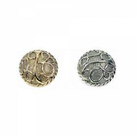 Nasturi Metalizati, cu Picior, din Plastic 15mm (144 bucati/pachet) Cod: 2122 Nasturi Metalizati, cu Picior, din Plastic, marime 40 (144 bucati/pachet) Cod: B6368