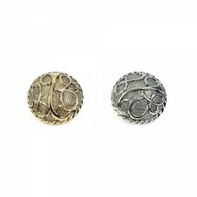 Nasturi AH1231, Marimea 28, Antic-Brass (144 buc/pachet) Nasturi Metalizati, cu Picior, din Plastic, marime 40 (144 bucati/pachet) Cod: B6368