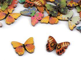 Nasturi Decorativi din Lemn Nasturi Decorativi din Lemn (25 bucati/pachet) Model: Fluture