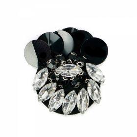 Clopotei/Zurgalai Metal (5 buc/pachet) cod: 790858 Aplicatii cu Strasuri din Sticla, 5x4.5 cm (6 bucati/pachet) Cod: MT0770
