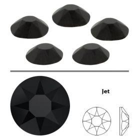 Cristale de Lipit 2078, Marimea: SS12, Culoare: Crystal-AB (1440 buc/pachet)  Cristale de Lipit 2078, Marimea: SS34, Culoare: Jet (144 buc/pachet)
