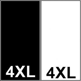 Etichete Tesute Imprimate Etichete Tesute Marime: 4XL (250 bucati/pachet)