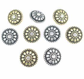 Nasture Plastic Metalizat ABH027-7, Marimea 24 (144 buc/pachet)  Nasturi Metalizati, cu Picior, din Plastic, marime 40 (100 bucati/pachet) Cod: S777