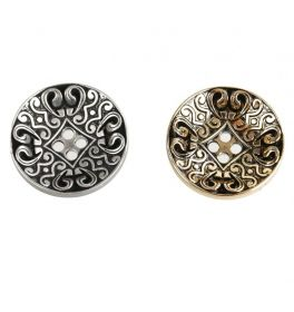Nasturi Plastic Metalizati ABH024-9, Marimea 24 (144 buc/pachet) 4 Holes Buttons S507, Size 40L (100 pcs/pack)