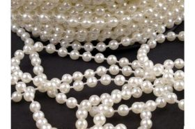 Perle Sirag si Strasuri Perle Metraj, 5 mm (40 metri/rola) Cod: 130125