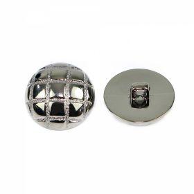 Nasture Plastic Metalizat ABH027-7, Marimea 24 (144 buc/pachet)  Nasturi Metalizati, cu Picior, din Plastic 15mm (100 bucati/pachet) Cod: 3166