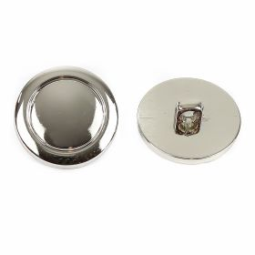 Nasturi cu Picior S567, Marimea 34 (100 buc/pachet) Nasturi Metalizati, cu Picior, din Plastic 21mm (100 bucati/pachet) Cod: 2122