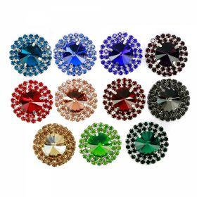 Aplicatii cu Cristale/Strasuri Aplicatii cu Strasuri din Sticla, 3.1 cm (2 bucati/pachet) Cod: BW-422