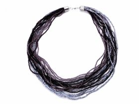 Aplicatii Vestimentare Colier multisirag margele nisip (1 colier/pachet) Cod: 330431