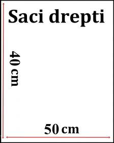 Saci Plastic fara Pliu Straight Plastic Garment Cover Clothes Bag, 40x50 cm (200 pcs/pack)